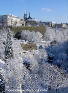 Winter in der Stadt Luxemburg