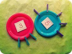 Materiales DIY: Propuestas manipulativas para trabajar los números Diy, Math, Education, Ideas Para, Google, Shape, Montessori Materials, Learning Activities, Proposals