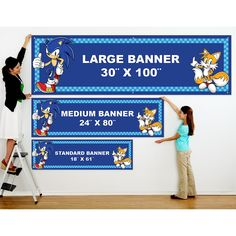 Sonic the Hedgehog Personalized Birthday Banner, 71512
