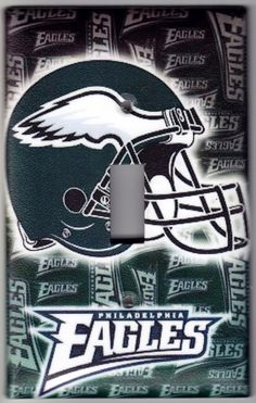 Philadelphia Eagles Football Switchplate by SpottedDogStudios, $8.00