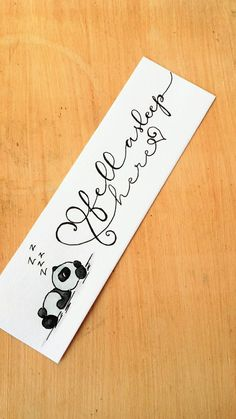 Set of 2 paper bookmarks, cat bookmark, panda bookmark, watercolor bookmarks hand painted with quote, shiny bookmarks with glitter Creative Bookmarks, Cute Bookmarks, Paper Bookmarks, Bookmark Craft, Watercolor Bookmarks, Homemade Bookmarks, Free Printable Bookmarks, Doodle Art Drawing, Book Markers
