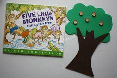 crayonfreckles: five little monkeys: math activity