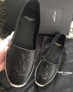 Delivery on my birthday  I sized down and they fit perfect  #saintlaurent #saintlaurentespadrilles #espadrilles #fashionblogger #yslespadrilles #yslshoes