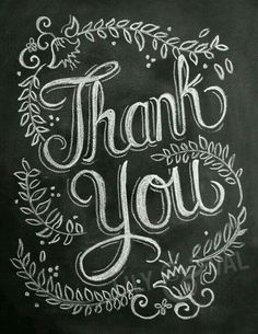 Items similar to Thank You Card - Chalkboard Thank You Card - Floral Chalk Art - Hand Lettered Card on Etsy Chalkboard Lettering, Chalkboard Designs, Typography Letters, Chalk Typography, Chalkboard Quotes, Info Board, Poster Design, Theme Noel, Chalk Art