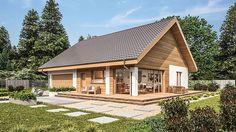 Projekt domu Murator C333u Miarodajny - wariant XVIII 99,20 m² - koszt budowy - EXTRADOM Cute House, Home Fashion, House Plans, Exterior, Cabin, House Design, House Styles, Home Decor, Building Homes