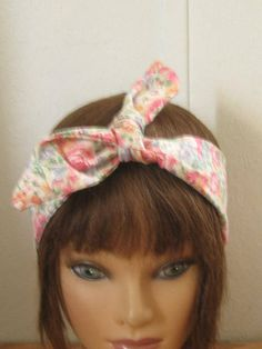 Hair Bandana, Summer Sale BOHO Headband, Hair Accessory, HairBands Women, Floral Hair Bandana, Boho,  TieUp Bandana, Women HairBand by StitchesByAlida on Etsy
