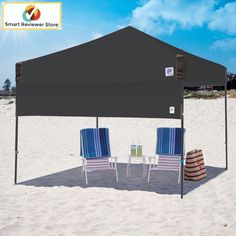 Instant Canopy Tent 10X10 Half Wall Outdoor Pop Up Gazebo Patio Beach Sun Shade & EZ Pop Up Canopy Tent 10 x 10 enclosure wall kit?Select Color ...
