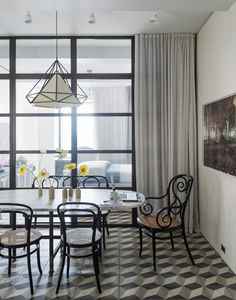This fabulous apartment sits at the top of a New York Art Deco skyscraper and is filled with mountains of design ideas, art, sculpture and unique furniture Crittal Doors, New Kitchen Doors, Polished Concrete Flooring, Crittall, Art Deco, Moving House, Loft Style, Internal Doors, Modern Interior Design