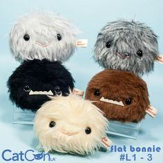 Meet the Coughingtons! Cute cat hairball plush now available in my shop and at CatCon on 6/25 & 6/26 (table L1-3)