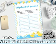 Baby Shower Farm Baby Shower Mint Baby Words Grammar Game ALPHABET GAME, Prints, Party Theme, Baby Shower Idea - rd002 #babyshowerparty #babyshowerinvites