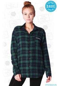 chi omega flannel
