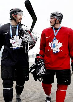 Drew Doughty and Sidney Crosby, Sochi 2014