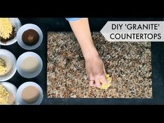How to paint your countertops to look like granite!  Easy & affordable DIY countertop makeover kit. Perfect for kitchen & bath makeovers on a budget.