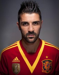 ~ David Villa on the Spain National Team. He has signed with Atletico Madrid ~