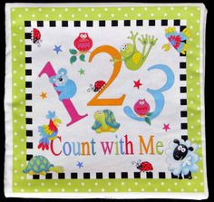 Count with Me 123 childrens soft book cloth book by specialgift, $14.00