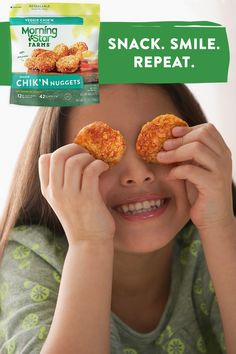 From the freezer to your fork in just a few minutes, MorningStar Farms® Chik'n Nuggets are the perfect after-school, after-work, or even after-midnight snack.  Quick, easy and delicious, these crispy and tender nuggets are made with 100% plant-protein. Apple Recipes, Gourmet Recipes, Cooking Recipes, Healthy Recipes, Freezer Smoothies, Frozen Dog Treats, Alcohol Drink Recipes, Sam And Colby, Vegetarian Appetizers
