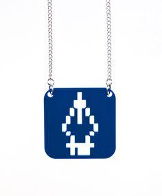 Necklace: Pen tool Blue
