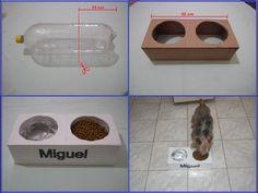 Como fazer um comedouro pra cachorros, e gatos Muito legal - YouTube