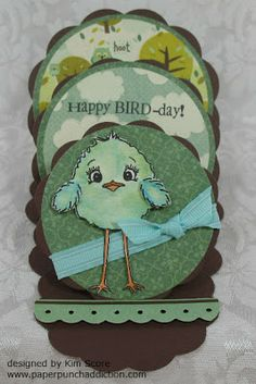 Splitcoaststampers - Tutorials: Triple easel card (with a video) Card Making Tutorials, Card Making Techniques, Making Ideas, Making Cards, Fun Fold Cards, Folded Cards, Diy Cards, Happy Bird Day, Easel Cards