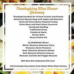 Onion Casserole, Wine Dinner, Butternut Squash Soup, Cranberry Sauce, Roasted Turkey, Dinner Rolls, Prosecco, Thanksgiving Recipes, Green Beans