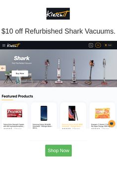Best deals and coupons for Klatchit Discount Coupons, Discount Shopping, Shark Vacuum, Coupon Codes, Mall, Vacuums, Cool Stuff, Vacuum Cleaners, Template