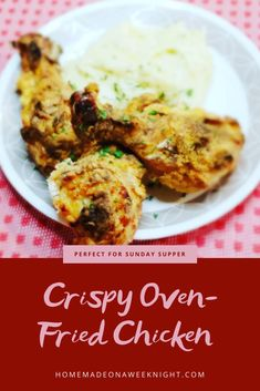 Crispy Oven Fries, Crispy Oven Fried Chicken, Fries In The Oven, Chicken Skillet Recipes, Skillet Meals, Side Dish Recipes, Dishes Recipes, Yummy Recipes, Cheesy Mashed Potatoes