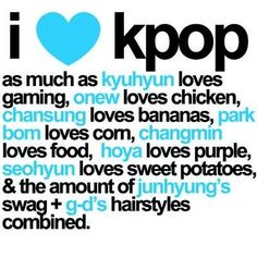 "LOL SO TRUE!!!! as much as Taeyeon loves Fany, Yesung loves turtles, Taemin loves ""Soy Un Doritos,"" Donghae loves fish, and Sooyoung loves food. lol : )"