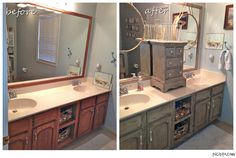 Chalk Paint Kitchen Cabinets Before and After | Bathroom Vanity Makeover with Annie Sloan Chalk Paint