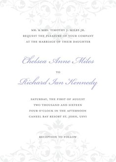 Wedding Invitations - Ornate Scroll