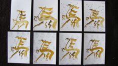 Elisa Antu: sumie de caligrafia   PROYECTO CHILICHE