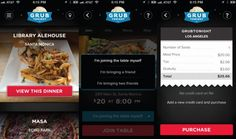 GrubTonight lets users find and join a group dinner taking place at a restaurant that same night.