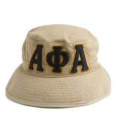 Khaki Letter Floppy Hat – Alpha Phi Alpha 38c1f1a5a146