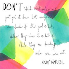 Andy Warhol Quote ♕