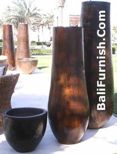 palmtree+decor | decor huge vase planters made of palm tree garden decoration