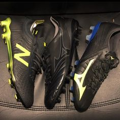 """The Boot Bible on Instagram: """"Black Pack 🔥🔥 - #officialbootbible #thebootbible #blackpanther #mizuno #newbalance"""" Jordans Sneakers, Air Jordans, Soccer Shoes, Black Panther, Cleats, Bible, Boots, Instagram, Football Boots"""