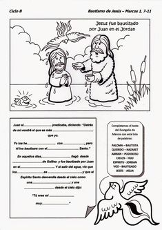 Sunday School Kids, Sunday School Activities, Bible Activities, Catholic Catechism, Catholic Kids, Jesus Coloring Pages, Bible Study For Kids, Kids English, Religious Education