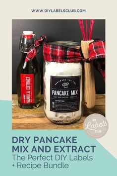 Camping season is right around the corner so it's time to get organized for your first trip! Sibyl Smith of DIY Labels Club has put together the ultimate bundle of her family's favorite pancake mix recipe and the best extract labels that will be perfect for any family's camping adventures! Grab your bundle, make the pancake mix, label your extracts, and hit the road! Summer Diy, Summer Crafts, Diy Gifts For Mothers, Diy Holiday Gifts, Diy Videos, Gift Cards, Pancake, Candle Jars, Label