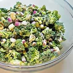 This delicious broccoli salad keeps well.