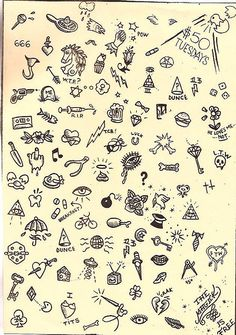 Sue Jeiven tattoo flash art.