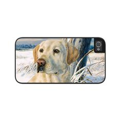 "Airstrike® Yellow Lab Phone Case, Yellow Lab iPhone 5s Case, Yellow Labrador iPhone Case, Hunting Dog iPhone Protective Case ""Frozen Moment"" 50-5325"