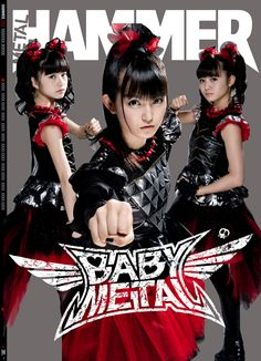 Creating the Babymetal cover and package from 2016 for Metal Hammer Magazine in the UK. Baby Metal, Metal Girl, The One, Japon Tokyo, Gothic Rock, Music Magazines, Japanese Street Fashion, Fandom, Band Posters