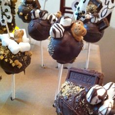 my brother's s'more birthday cake pops