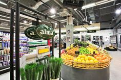 Supermarket Design | Produce Areas | Retail Design | Shop Interiors | Alma grocery