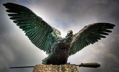 Hungary History, Bald Eagle, Around The Worlds, Artists, Sculpture, Statue, Artwork, Animals, Beautiful