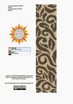 KIKI GYÖNGYEI: Leveles peyote karkötő minta - pattern
