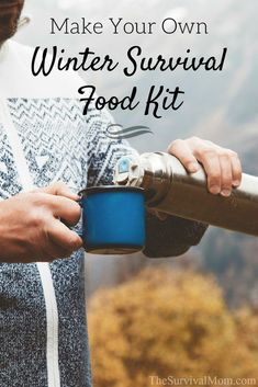 This handy plan for a Winter Survival Food Kit will give you many options for hot beverages and warm, simple meals. This handy plan for a Winter Survival Food Kit will give you many options for hot beverages and warm, simple meals. Survival Food Kits, Survival Supplies, Emergency Supplies, Homestead Survival, Survival Prepping, Emergency Preparedness, Survival Gear, Survival Skills, Survival Hacks