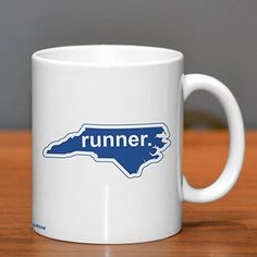 North Carolina Runner Ceramic Mug - Show off your pride for North Carolina with this great North Carolina Ceramic Coffee Mug.