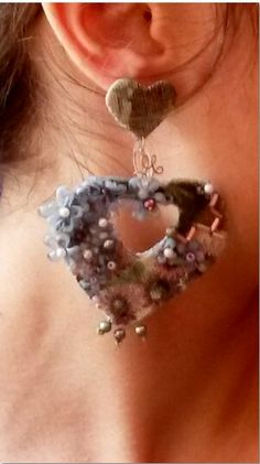Earrings for San Valentino.  Handmade. Sole piece.  Made in Italy by Morfosys Original Creations.  € 29 + forwarding charges.