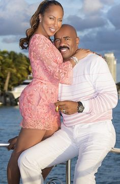 To celebrate his 58th birthday, celebrated TV host, comedian and actor, Steve Harvey and his wife Marjorie went on a boat cruise yesterda...