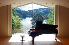 Concert Hall at Troldhaugen, Edvard Grieg's home outside Bergen, Norway Bergen, Concert Hall, Norway, Centre, The Outsiders, Music Instruments, Photos, Inspiration, Home